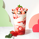 딸기 마블 플로트 (strawberry marble float)